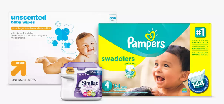 Target 15% off select diapers, wipes & formula